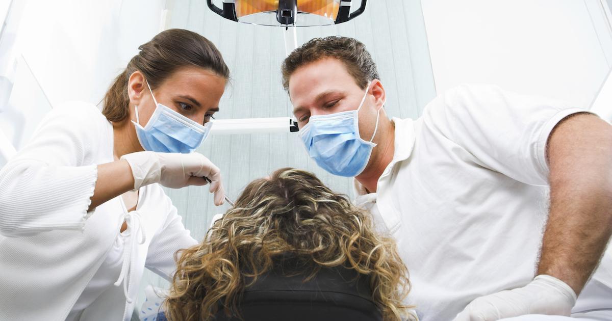 Visit at the dentist's surgery